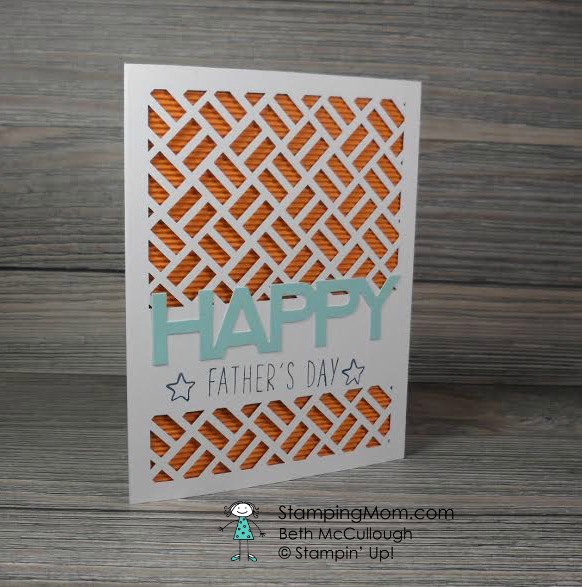 StampinUp Father's Day card made with Paper Pumpkin- May2016 by demo Beth McCullough. Please see more card and gift ideas at www.StampingMom.com #StampingMom