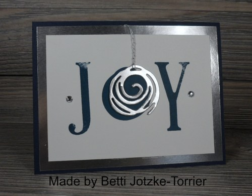 StampinUp Swirly Bird Christmas card made by Betti Jotzke-Torrier