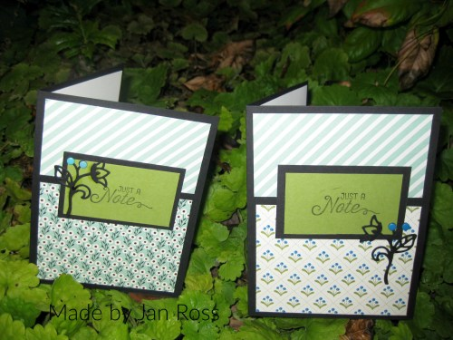 StampinUp card made by Jan Ross.