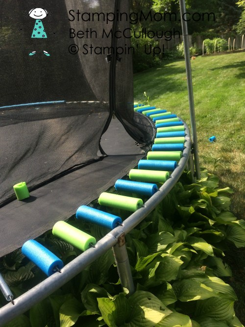 StampingMom trampoline DIY by Beth McCullough. Please see card and gift ideas at www.StampingMom #StampingMom