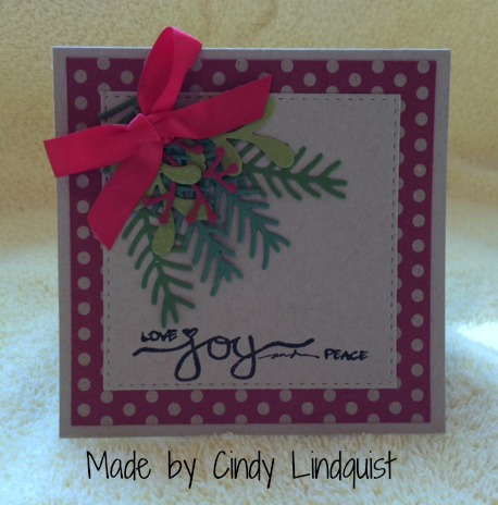 Stampin Up Christmas Pines and Pretty Pines Thinlits Dies made by Cindy Lindquis