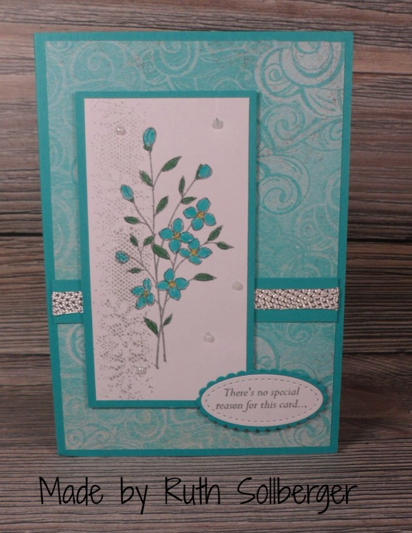 Stampin Up Touches of Texture all occasion card made by Ruth Sollberger. Please see more card and gift ideas at www.StampingMom.com #StampingMom #cute&simple4u
