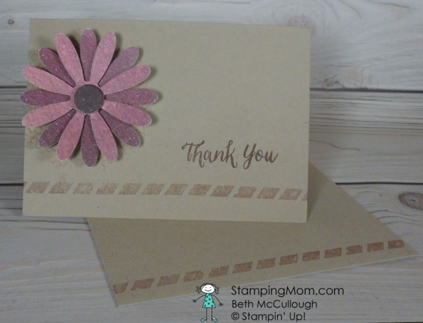 Stampin Up Thank you card designed by demo Beth McCullough. Please see more card and gift ideas at www.StampingMom.com #StampingMom #cute&simple4u