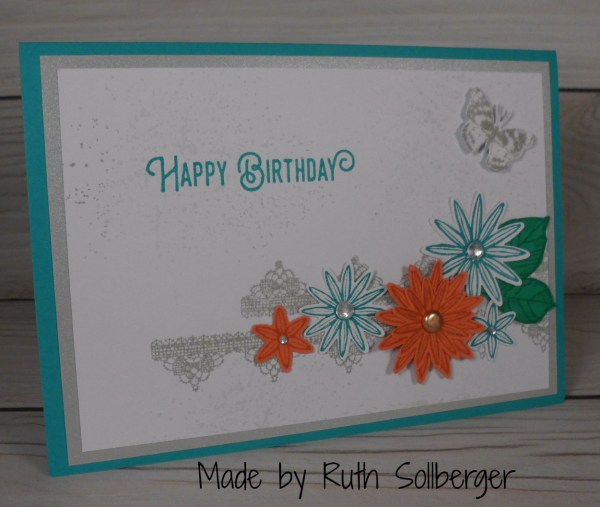 Stampin Up Birthday card made by Ruth Sollberger. More card and gift ideas at www.StampingMom.com #Stampingmom #cute&simple4u