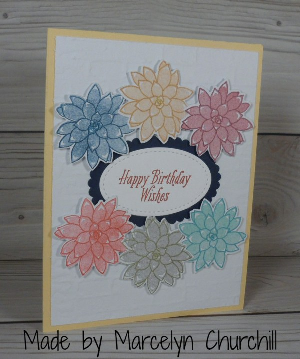 Stampin Up Birthday card made by Marcelyn Churchill. More card and gift ideas at www.StampingMom.com #StampingMom #cute&simple4u