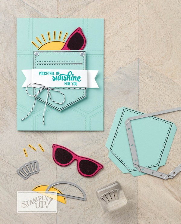 Pocketful of Sunshine card made by Stampin Up. Please see more card and gift ideas at www.StampingMom.com #StampingMom #cute&simple4u