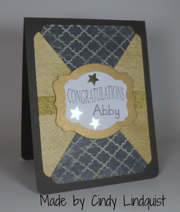 Stampin Up Graduation card made by Cindy Lindquist. Please see more card and gift ideas at www.StampingMom.com #StampingMom #cute&simple4u