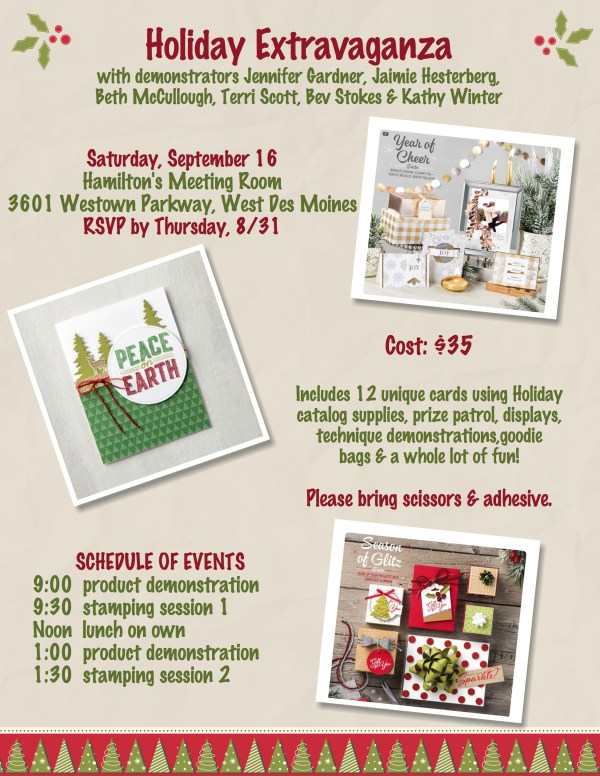 Holiday Extravaganza in West Des Moines, IA on Saturday September 16.