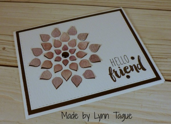 Handmade card created by Stampin Up Demo Lynn Tague. Please see more on her blog https://beyondbeachesandblessings.com
