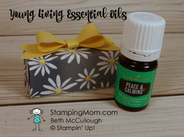 Young Living Essential Oils and Stampin Up Delightful Daisy DSP box designed by demo Beth McCullough. Please see more card and gift ideas at www.StampingMom.com #StampingMom #cute&simple4u
