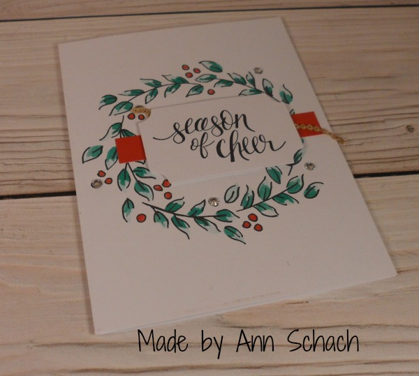Stampin Up Christmas card made by Ann Schach. Please see more card and gift ideas at www.StampingMom.com #StampingMom #cute&simple4u