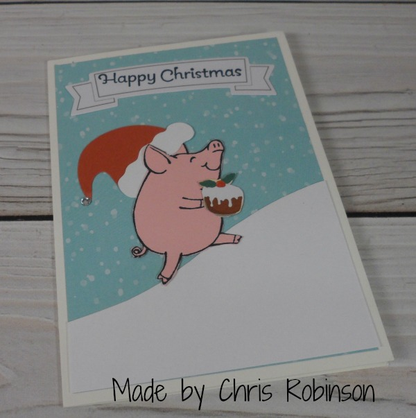 Stampin Up Christmas card made by Chris Robinson. Please see more card and gift ideas at www.StampingMom.com #StampingMom #cute&simple4u