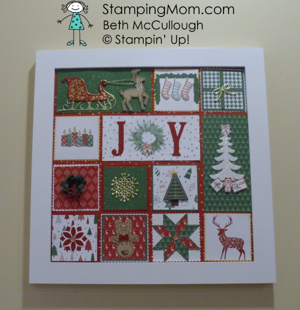 Stampin Up Christmas sampler made by demo Beth McCullough. Please see more card and gift ideas at www.StampingMom.com #StampingMom #cute&simple4u