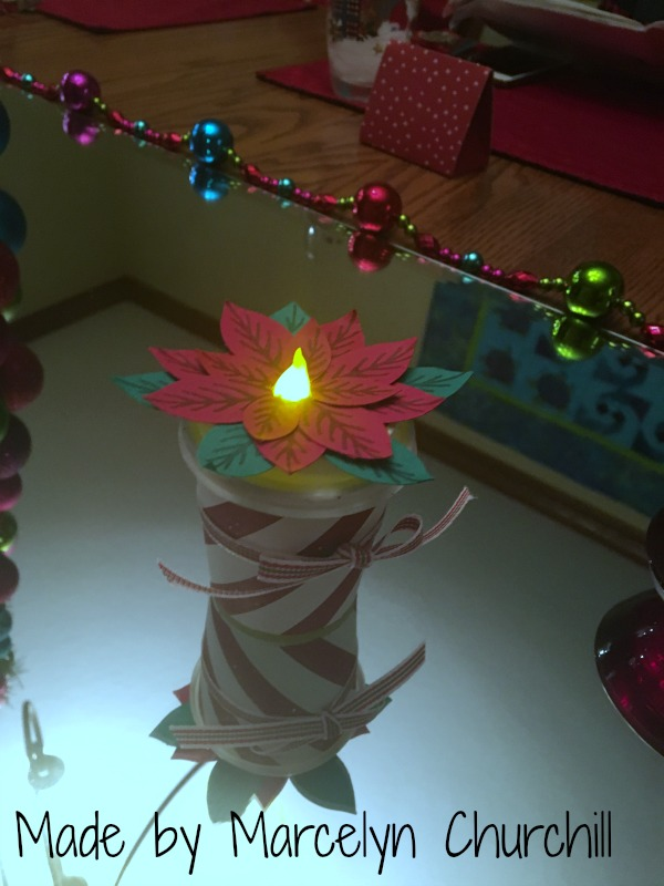 Stampin Up Mini coffee cup tea light flower made by Marcelyn Churchill. See more projects made by Marcelyn on Mondays at www.StampingMom.com #StampingMom #cute& simple4u