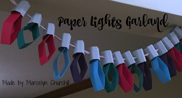 Stampin Up Paper Lights Garland made by Marcelyn Churchill. Please see more projects made by Marcelyn on Mondays at www.StampingMom.com #StampingMom #cute&simple4u
