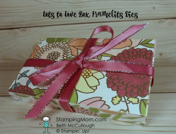 Stampin Up Lots to Love Box designed by demo Beth McCullough. Please see more card and gift ideas at www.StampingMom.com #StampingMom #cute&simple4u