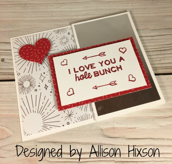 Stampin Up Valentine designed by Allison Hixson. Please see more card and gift ideas at www.StampingMom.com #StampingMom #cute&simple4u