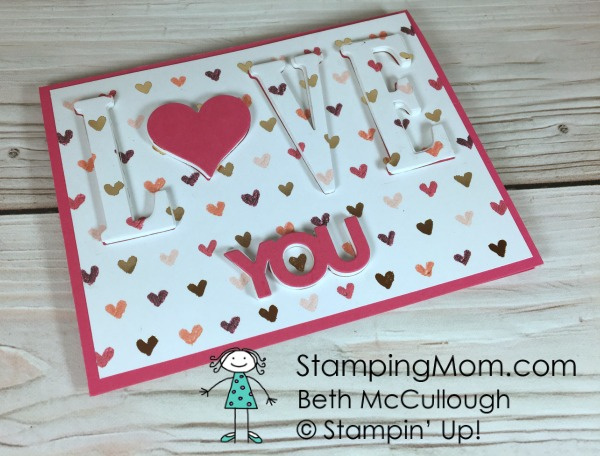 Stampin Up Eclipse Valentine card designed by demo Beth McCullough. Please see more card and gift ideas at www.StampingMom.com #StampingMom #cute&simple4u