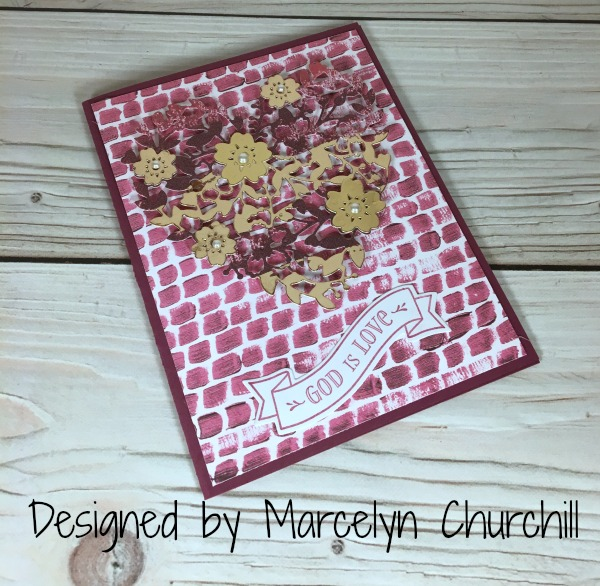 Stampin Up Bloomin' Heart Thinlits card designed by demo Marcelyn Churchill. Please see more card and gift ideas at www.StampingMom.com #StampingMom #cute&simple4u