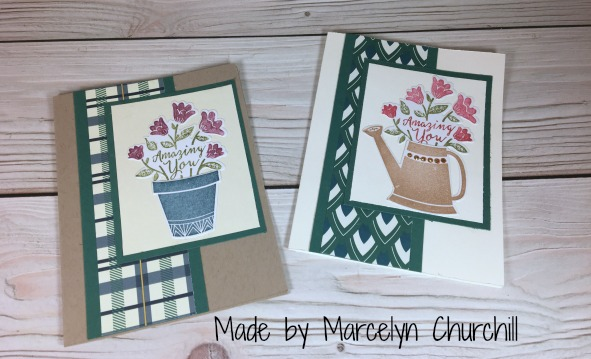 Stampin Up Grown with Love card designed by Marcelyn Churchill. Please see more card and gift ideas at www.StampingMom.com #StampingMom #cute&simple4u