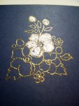 Gold Embossing Powder on Dark Cardstock