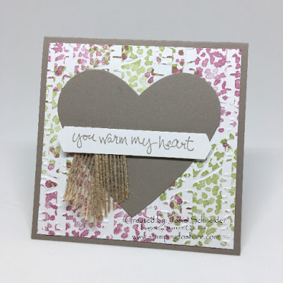 Sheltering Tree with Woodland Embossing Folder, Heart Card Stamping to Share