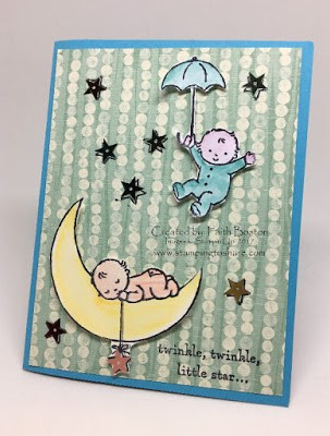 Stampin' Up! Moon Baby with By the Shore, Stamping to Share