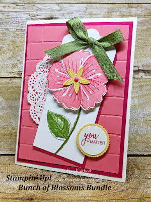 Create a card with the Stampin' Up! Bunch of Blossoms Bundle - Includes How To Video. By Kay Kalthoff Stamping to Share.