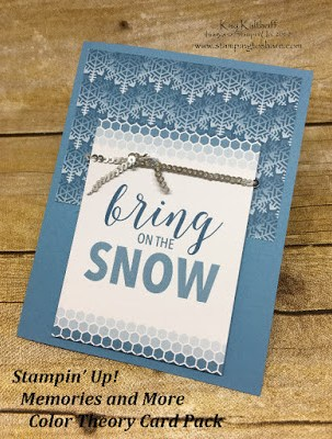 Stampin' Up! Memories and More Color Theory Card Pack. Winter card created by Kay Kalthoff with Stamping to Share.