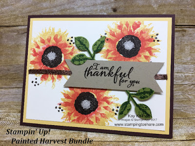 Stampin' Up! Painted Harvest Bundle, a Fall Flair card created by Kay Kalthoff with Stamping to Share.