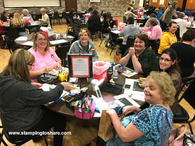 A large turnout at our Stamping to Share Fall Flair 2017.