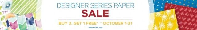 Buy Three Get One Free. Stampin' Up! Designer Series Paper Sale.