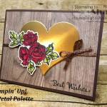 Create an elegant wedding card with the Petal Palette Bundle from Stampin