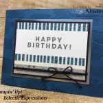 Create a sparkling birthday card with the Myths and Magic Washi Tape from Stampin