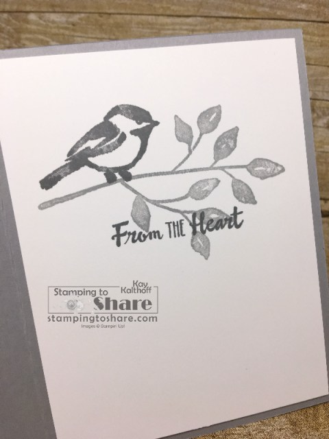 Stampin' Up! Petal Palette Inside Panel for Sympathy Card created by Kay Kalthoff with How To Video for #stampingtoshare