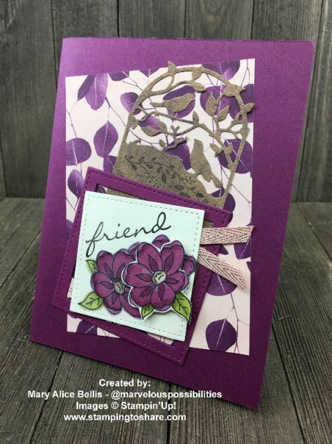 Created by Mary Alice Bellis with Botanical Bliss for swap with #stampingtoshare