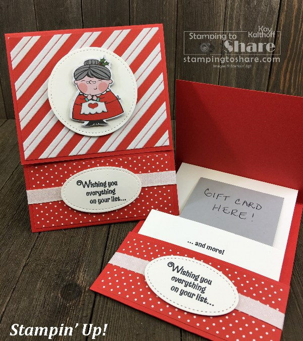 Fab Friday FB Live! Make a Cute Signs of Santa Gift Card Holder!