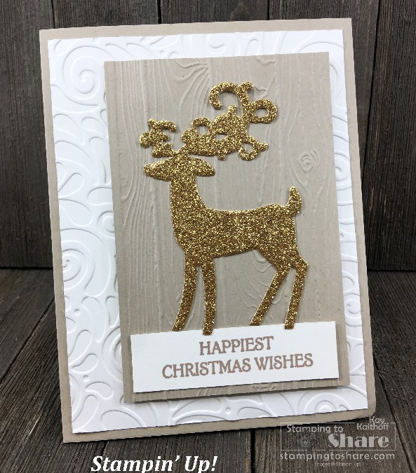 How To Make a Christmas Card with Stampin' Up! Dashing Deer on a Make It Monday FB Live