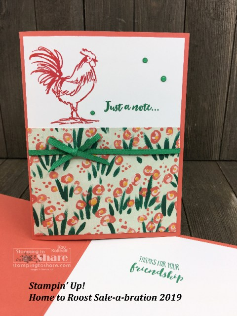 Stampin' Up! Home to Roost with Garden Impressions 6x6 Designer Series Paper Kay Kalthoff for #stampingtoshare #simplestamping