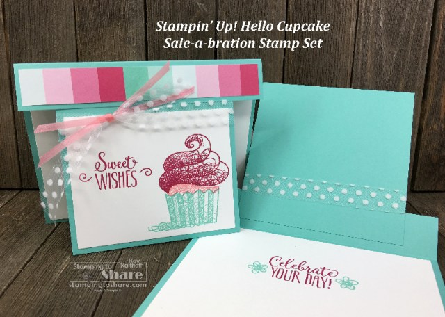 Stampin' Up! Hello Cupcake 2019 Sale-a-bration set Kay Kalthoff for Stamping to Share