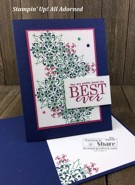 Stampin' Up! All Adorned by Kay Kalthoff for #stampingtoshare