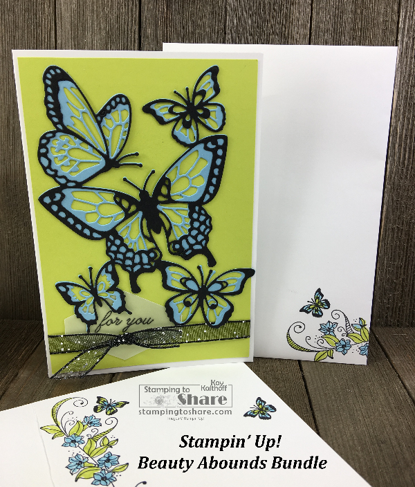 Stampin' Up! Beauty Abounds Bundle by Kay Kalthoff for #stampingtoshare