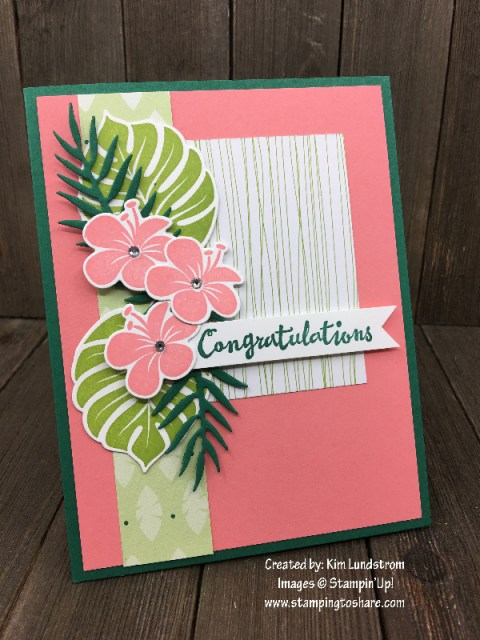 Tropical Chic Bundle created by Kim Lundstrom for April Demo Meeting #stampingtoshare