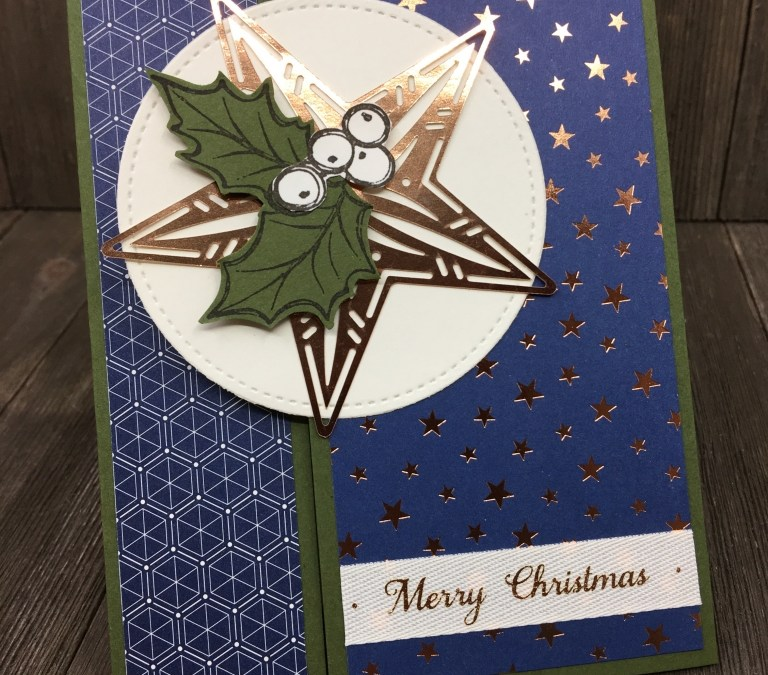 Stampin' Up! Christmas Gleaming Offset Gatefold Card Plus Bonus Video!