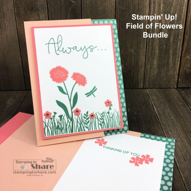 How to Make a Thinking of You Card with Stampin' Up! Field of Flowers Bundle