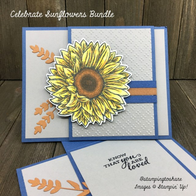 Stampin' Up! Dove of Hope Bundle in a Fun Fold Card.