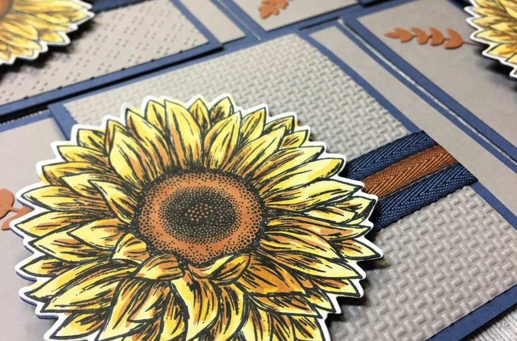 Celebrate Sunflowers in a Fun Fold Card