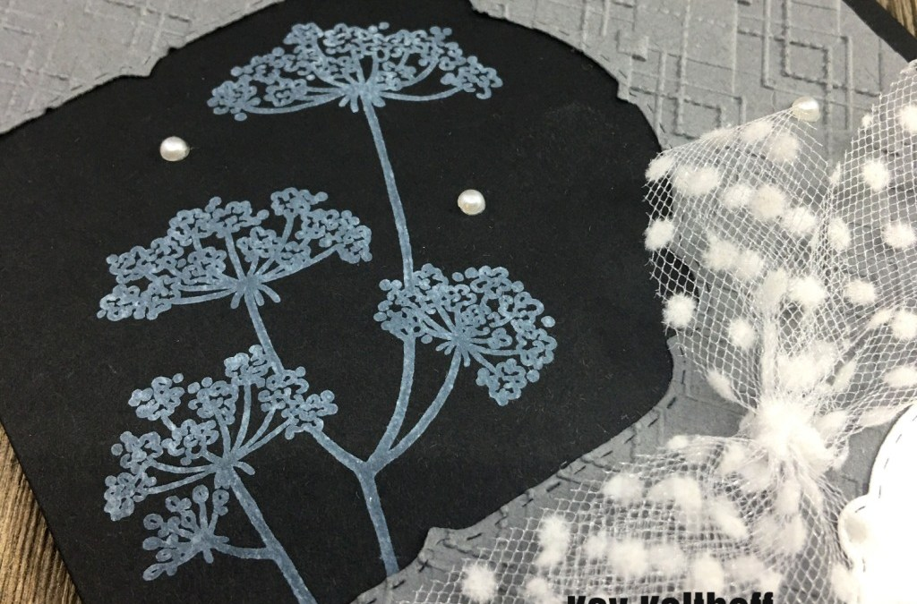 Queen Anne's Lace with White Craft Ink