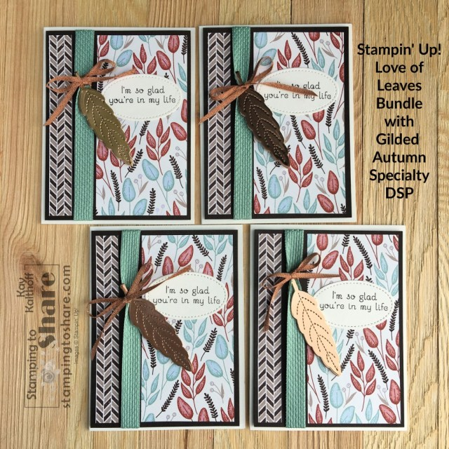 Love of Leaves Bundle Card by Kay Kalthoff for Stamping to Share Demo Meeting Swap