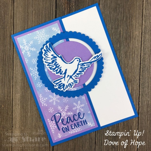 Stampin' Up! Dove of Hope Bundle for Christmas Cards by Kay Kalthoff with Stamping to Share.